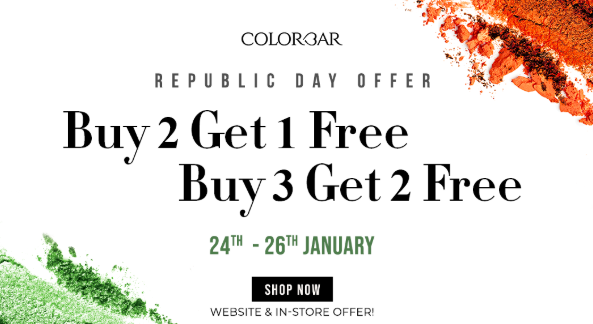 Colorbar Republic Day Sale - Buy 2 Get 1 Free & Get 2 On 3