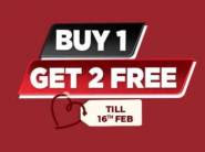 Buy 1 Get 2 Free On Entire Fashion And Accessories Rs. 299