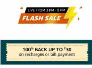 Flash Sale - 100% Cashback Up To Rs. 30 On Recharge & Bill Payment [ Upcoming ]