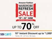 Wardrobe Fashion Sale Up To 70% Off + 10% Sbi Off